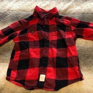 Dress flannel shirt